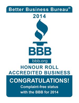 BBB honour roll 2014