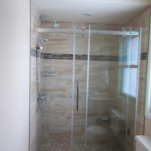patterned bath