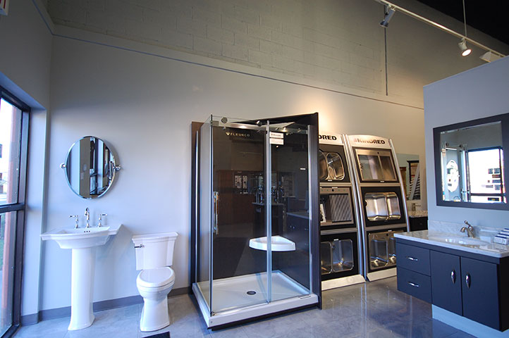 Kitchens & Baths Showroom Stand up Shower